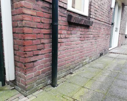 Vochtprobleem in de muur buiten