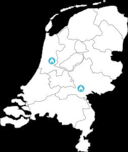 Locaties van SmartDry in Nederland