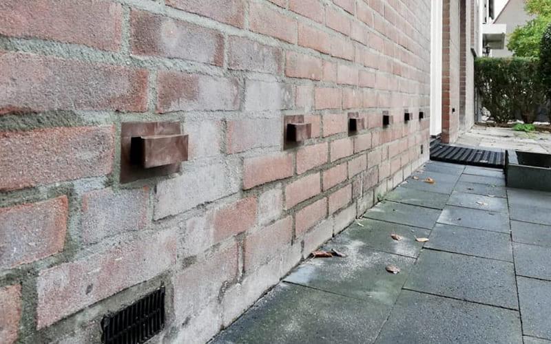 Geen vochtproblemen in de muur