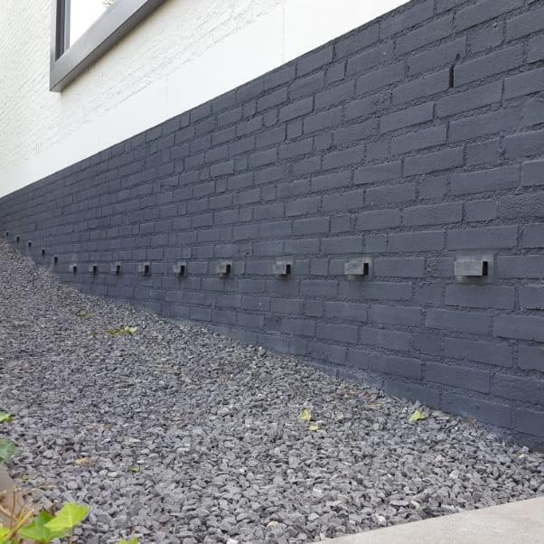 Geen vochtige muren dankzij de DryBricks