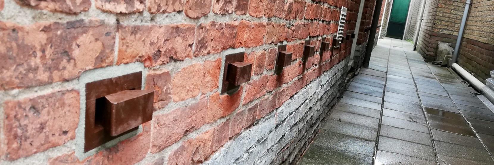 Vocht uit de muur halen