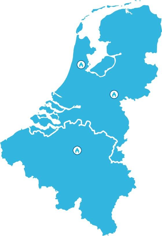 SmartDry locaties in de Benelux