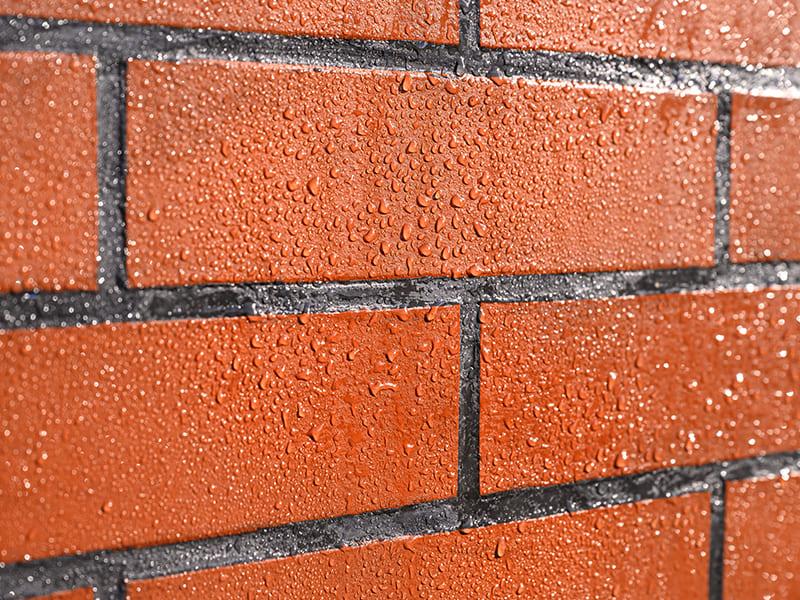 Voorbeeld van een geïmpregneerde muur